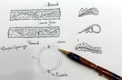 職人による手彫りデザイン
